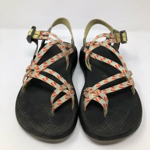 Chaco ZX2 Classic Sandals Sz 10 Prism Yellow Blue